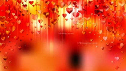 Orange Valentine Background Vector