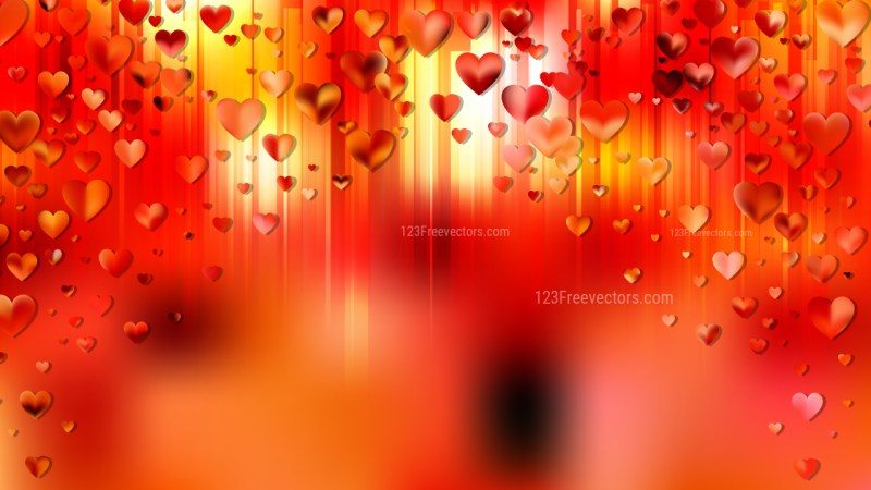 Orange Valentine Background Vector