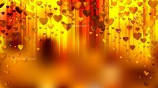 Orange Heart Wallpaper Background