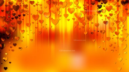 Orange Valentines Background