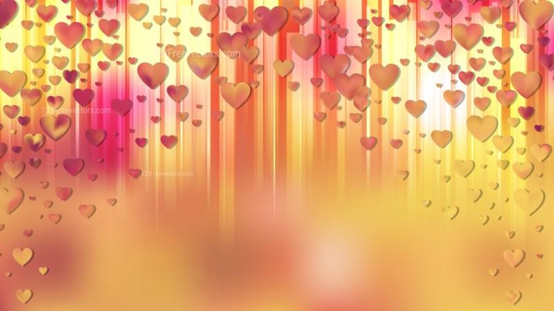 Orange Love Background