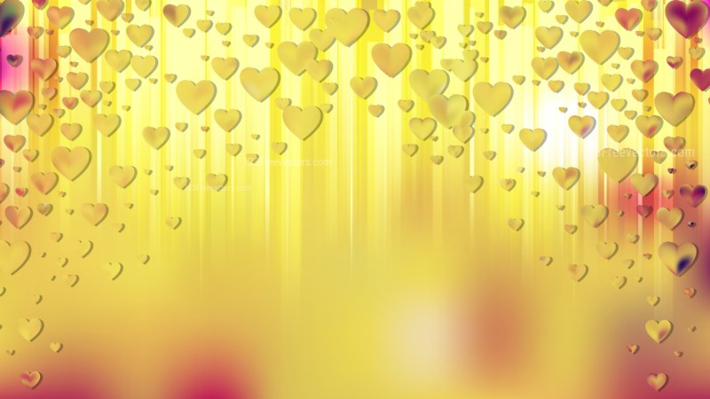 Orange Heart Background Illustrator