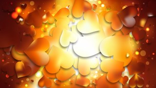 Orange Heart Wallpaper Background Vector Illustration