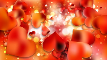 Orange Valentines Day Background Vector