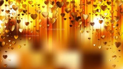Orange Valentines Background Vector Art