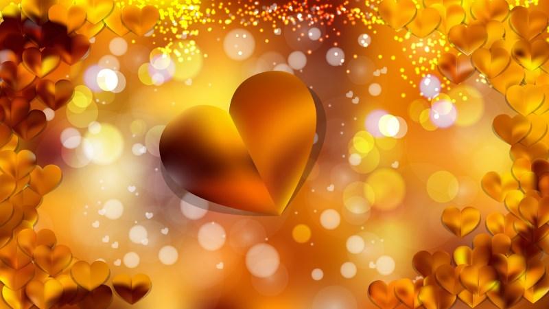 Orange Love Background Illustration