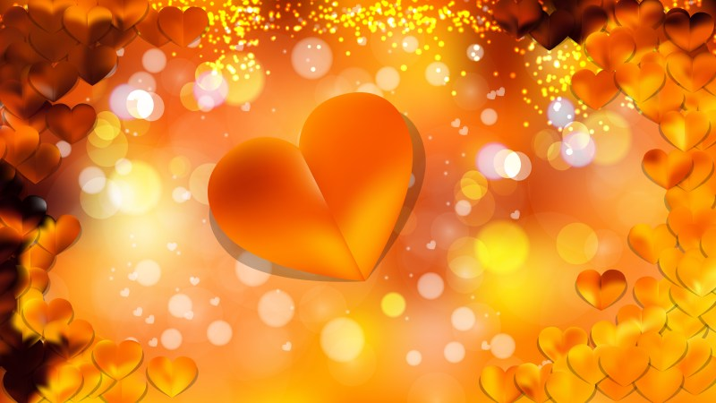 Orange Valentines Card Background