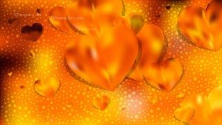 Orange Valentines Day Background