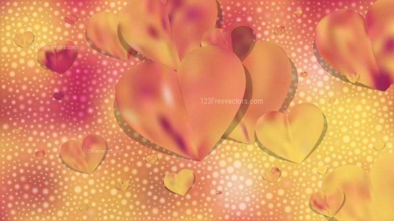 Orange Valentine Background