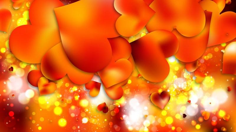 Orange Valentines Day Background Illustrator