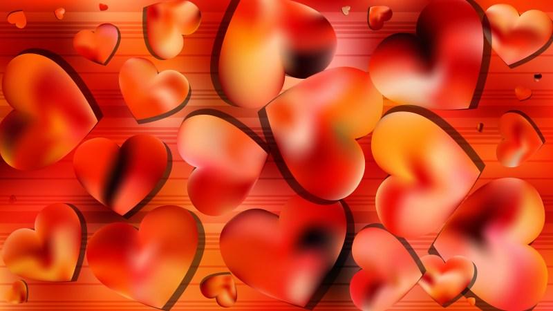 Orange Valentine Background Graphic