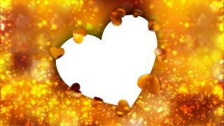 Orange Heart Background