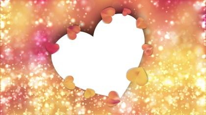Orange Valentines Background