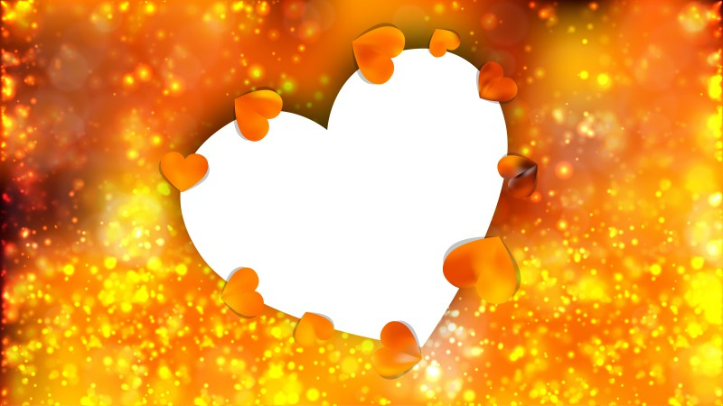 Orange Heart Wallpaper Background Vector Art