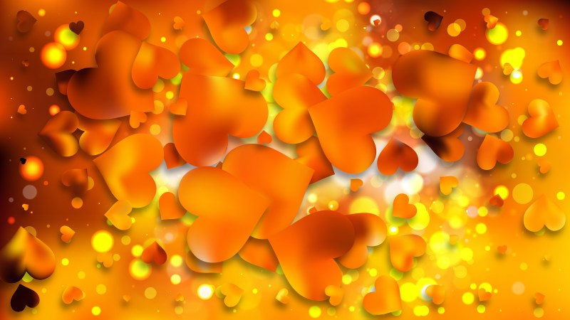 Orange Valentine Background Design