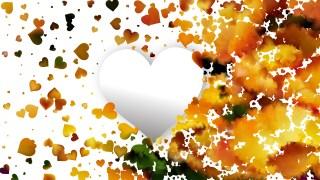 Orange Valentines Day Background Design