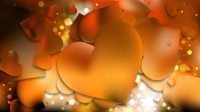 Orange and Black Valentine Background