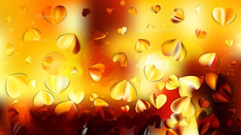 Orange and Black Love Background