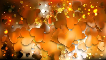 Orange and Black Heart Background Design
