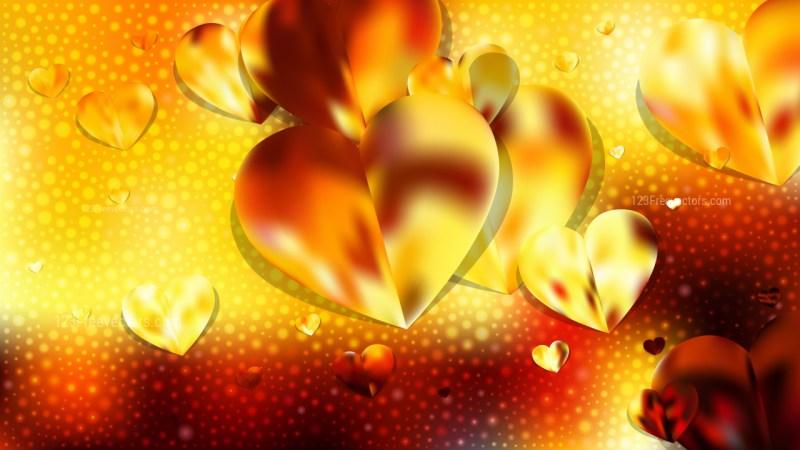Orange and Black Love Background Vector Illustration