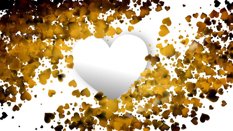 Orange and Black Heart Background Vector Graphic