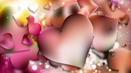 Pink Valentines Card Background