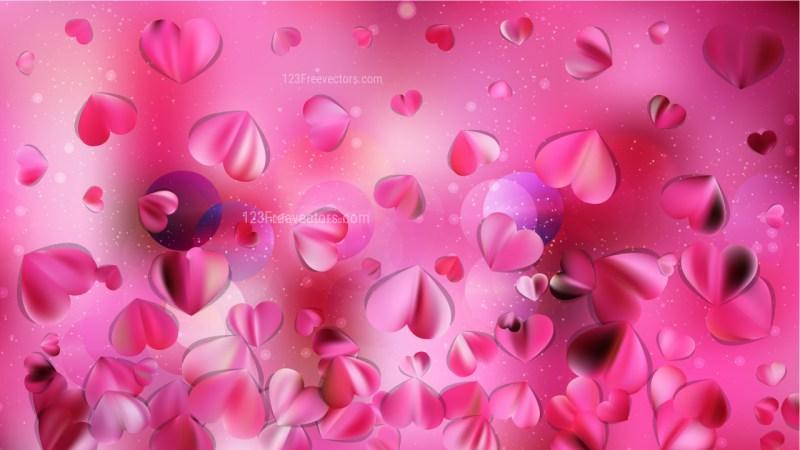 Pink Heart Background Design