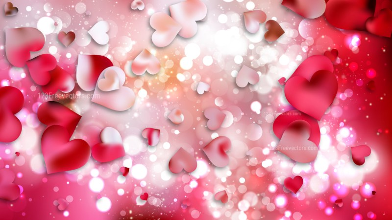 Pink Valentines Day Background Vector Graphic
