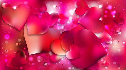Pink Love Background Vector Illustration