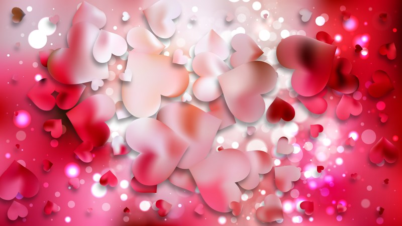 Pink Heart Background Vector Graphic