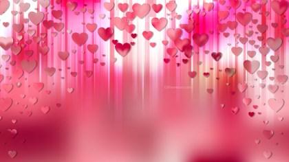 Pink Valentines Day Background Illustrator