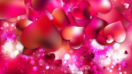 Pink Valentines Background Vector Illustration