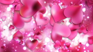 Pink Valentines Day Background Vector