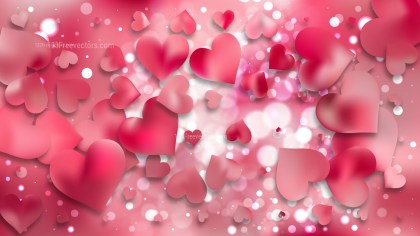 Pink Heart Wallpaper Background