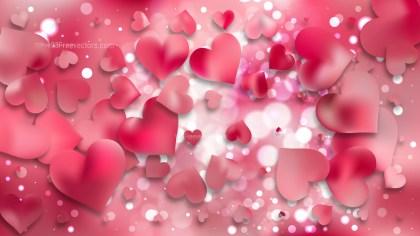 Pink Heart Wallpaper Background