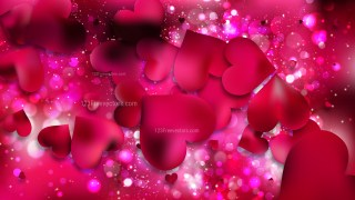 Pink Valentines Background Illustration