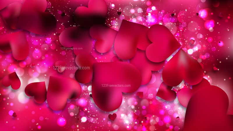Pink Valentines Background Illustration