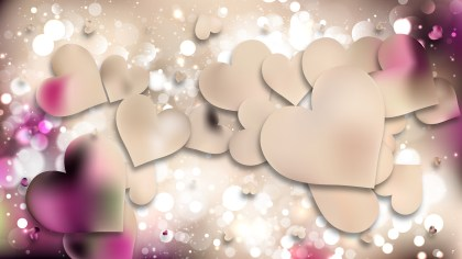 Pink and Beige Heart Wallpaper Background Illustration