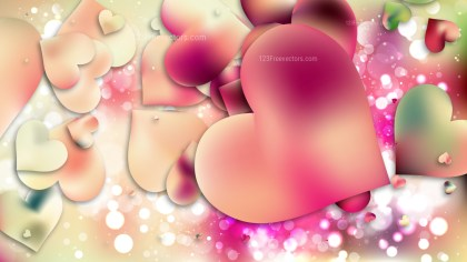 Pink and Beige Valentine Background Vector Graphic
