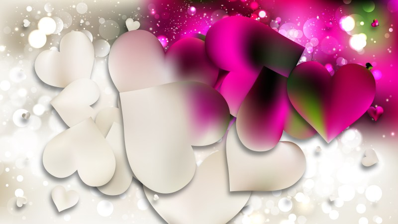 Pink and Beige Love Background Vector Image