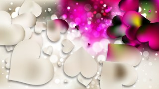 Pink and Beige Valentine Background
