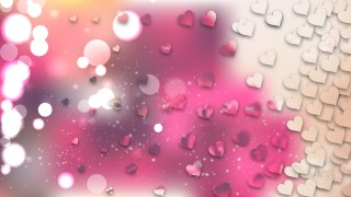 Pink and Beige Heart Background Design