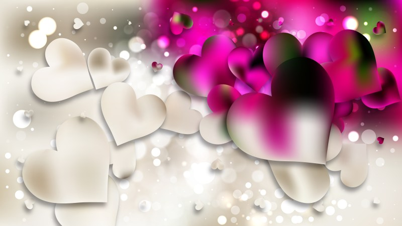 Pink and Beige Heart Wallpaper Background Image