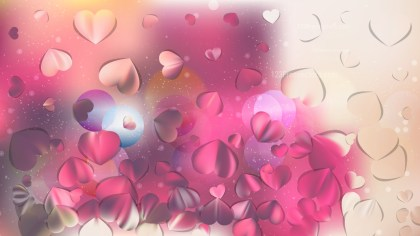 Pink and Beige Valentines Background Vector Image