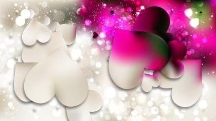 Pink and Beige Valentine Background Illustrator