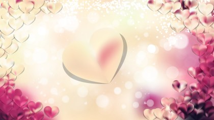 Pink and Beige Love Background Vector Illustration