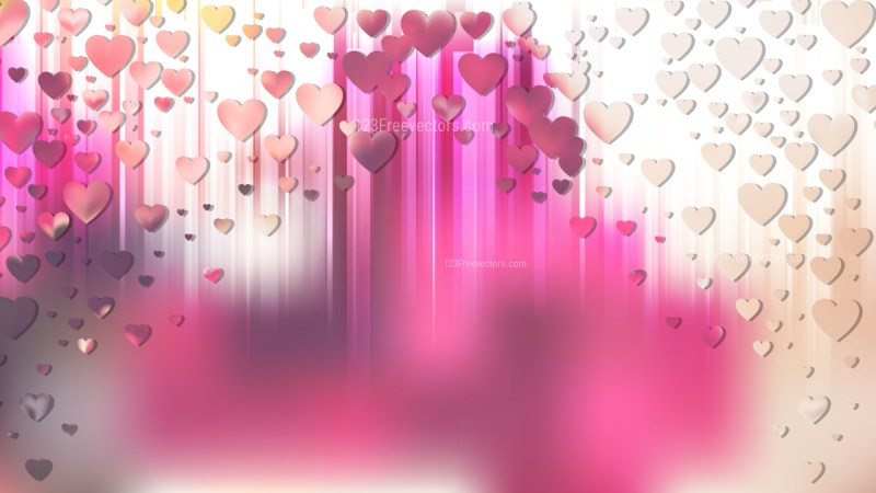 Pink and Beige Valentines Card Background
