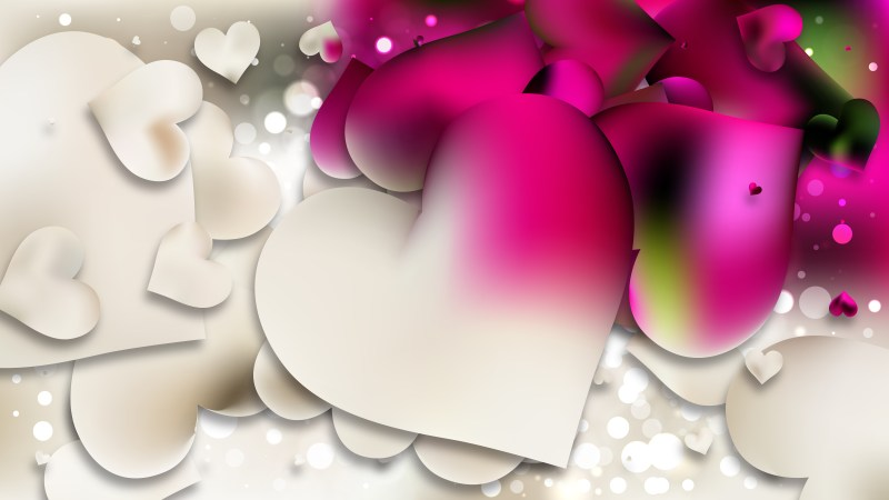 Pink and Beige Valentines Day Heart Background