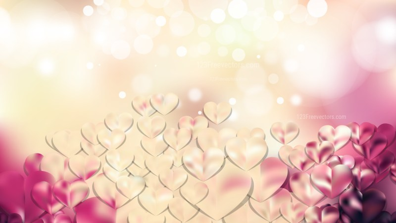 Pink and Beige February Background