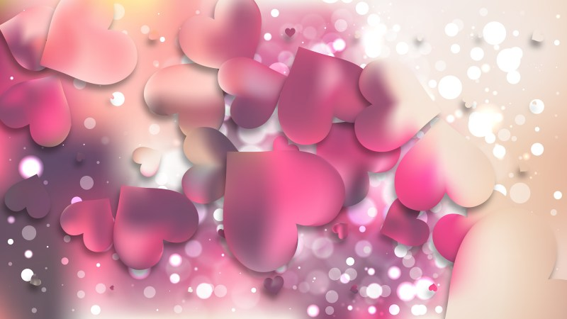 Pink and Beige Heart Background